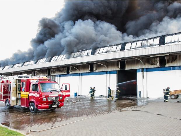Incêndio que começou no domingo foi controlado apenas na manhã desta segunda-feira (7) (Foto: Paulo Volpato Arruda/ VC no G1)