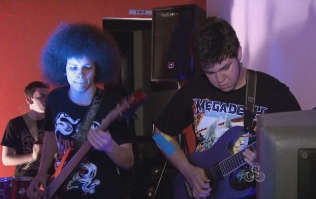 Escola de música de Boa Vista promove evento em alusão ao Dia Mundial do Rock (Foto: Bom Dia Amazônia)