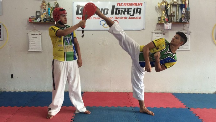 Gabriel Nascimento, Seleção Brasileira de taekwondo, Seletiva, taekwondo, Amapá (Foto: Bruno Igreja/Arquivo Pessoal)