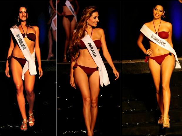 Ao todo, 19 candidatas participaram do concurso. Desfile com trajes de banho era um dos mais aguardados da noite. banho.  (Foto: Miss Surda Brasil/Divulgação)