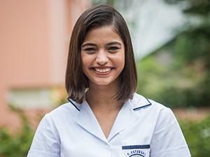 Cynthia Senek é Krica, aluna do Colégio Leal Brazil, na nova temporada de Malhação (Foto: João Cotta / TV Globo)