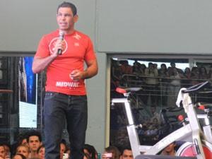 Minotouro Uberlândia Palestra (Foto: Felipe Santos/G1)