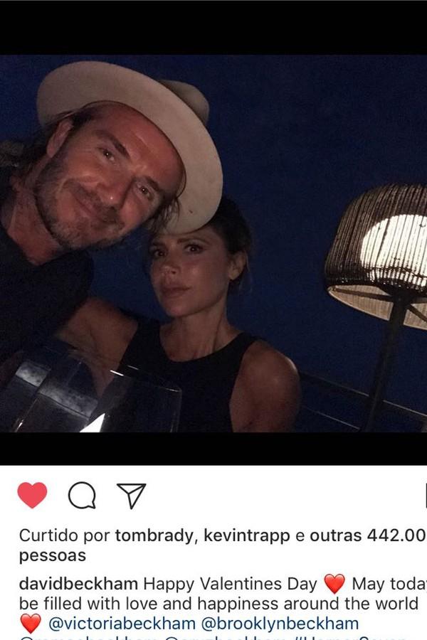 David e Victoria Beckham (Foto: Instagram/Reprodução)