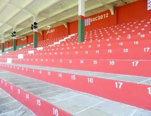 Arquibancada do estádio Ulrico Mursa, Portuguesa Santista (Foto: Divulgação / E5 Comunicação)