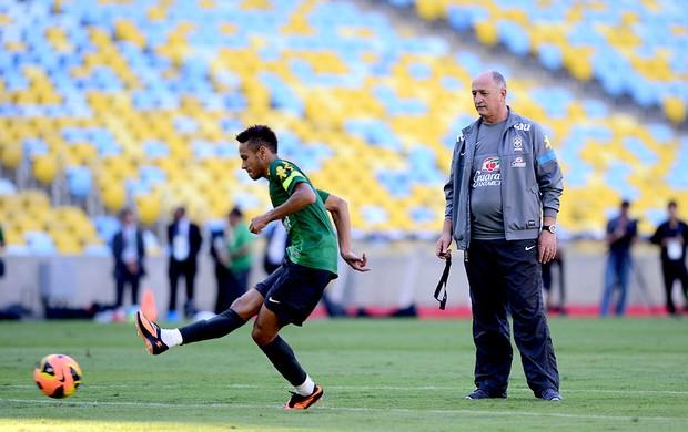 neymar Felipão brasil treino (Foto: André Durão / Globoesporte.com)