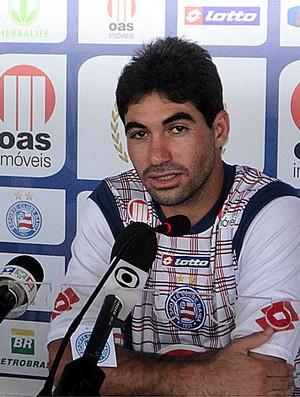 Marcos em entrevista coletiva no Bahia (Foto: Raphael Carneiro/Globoesporte.com)