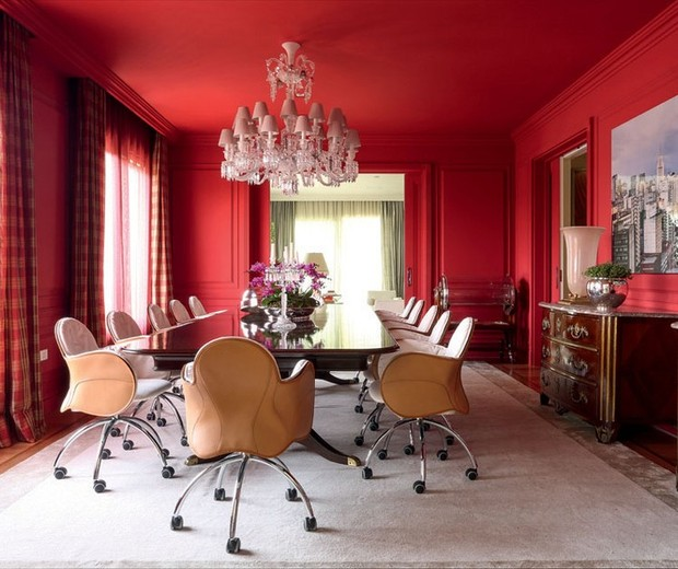 Top 10 salas de jantar vermelhas (Foto: divulgaçao)