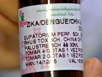 Remédio é vendido em farmácia de Cuiabá (Foto: Reprodução/TVCA)