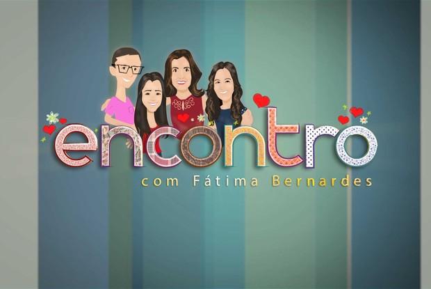 Fátima e seus trigêmeos ganham caricaturas (Foto: Encontro com Fátima Bernardes/TV Globo)