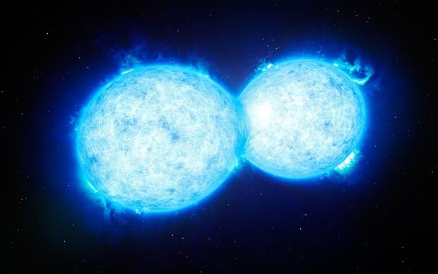 O sistema estelar binário VFTS352, descoberto pelo astrônomo Leonardo Almeida (Foto: L. Calçada/ESO)