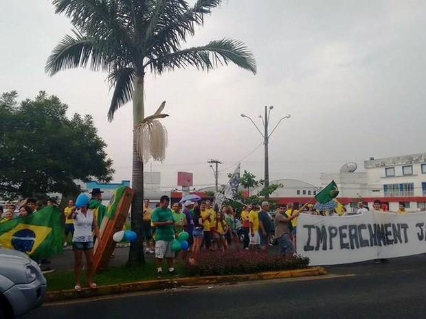 Em Araranguá, no Sul de SC, 500 pessoas participaram da manifestação, segundo a PM (Foto: Revista W3/Divulgação)