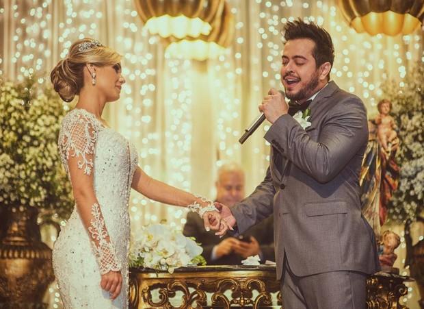 Henrique e isabella no dia do casamento (Foto: Reprodução/Instagram)