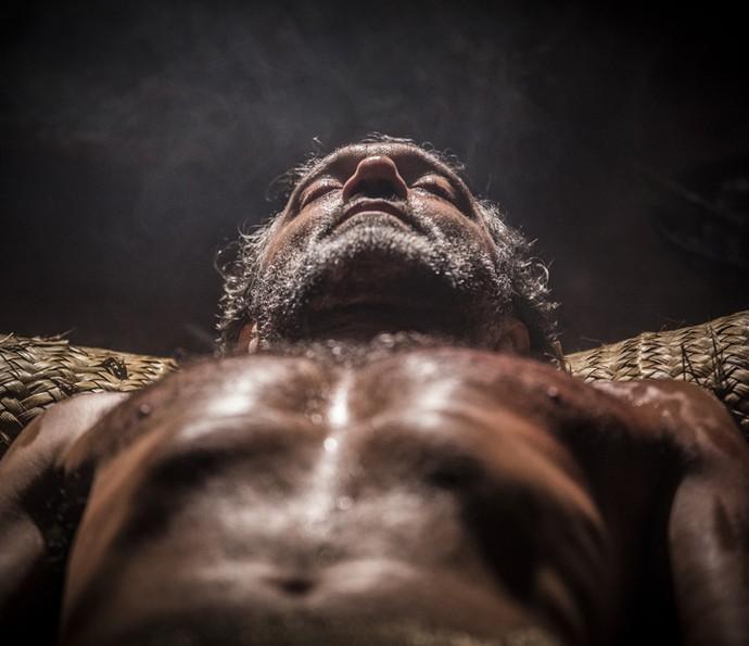 Santo é cuidado por tribo indígena (Foto: Inácio Moraes/ Gshow)