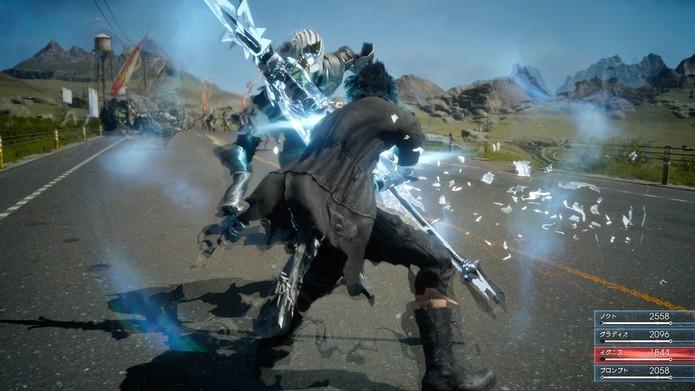 Cena de batalha em Final Fantasy 15 (Foto: Divulgação/Square Enix)