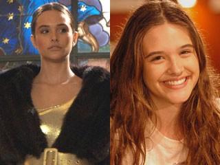 Juliana como a top model Diva em Viver a Vida e, ao lado, como Beth, em Cama de Gato (Foto: CGCOM e Viver a Vida/ TV Globo)
