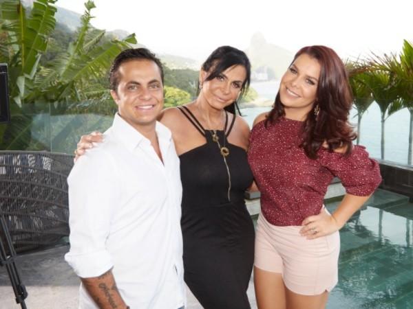 Thammy com a mãe, Gretchen, e Fernandinha Souza no programa dela que vai ao ar nesta terça-feira (4) (Foto: Juliana Coutinho/ Multishow)