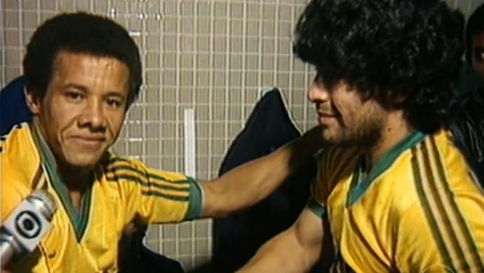 Jacozinho e Maradona (Foto: Reprodução/Rede Globo)