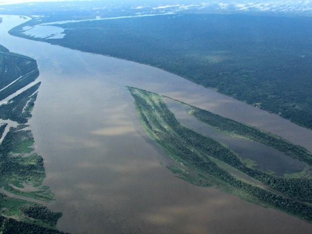 Rios Amazônia no estado Amazonas (Foto: Adneison Severiano/G1 AM)