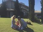 Rodrigão mostra foto com Adriana Sant'Anna e o filho na casa nova
