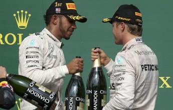 Hamilton vence nos EUA, mas Nico é 2º e pode ser campeão já no México