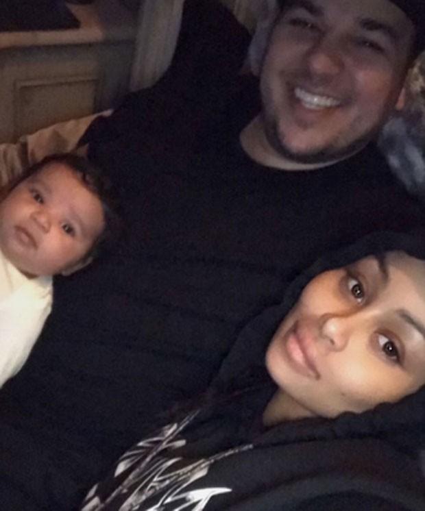 Blac Chyna acusa Rob Kardashian de bater em Dream (Foto: Reprodução)