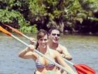 Fernanda Pontes posta foto em caiaque com o marido, Diogo Boni