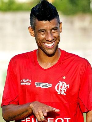 Leo Moura no treino do Flamengo (Foto: Cezar Loureiro / Agência O Globo)