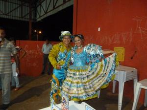 Fernanda Lopes e o marido Carlos Alexandre se conheceram na Cafundó do Brejo (Foto: Cláudio Maranhão/Arquivo Pessoal)