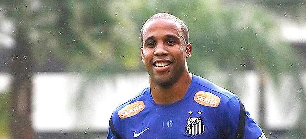 Borges no treino do Santos