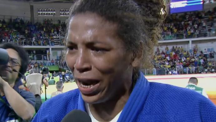 Rafaela Silva, judoca do Brasil (Foto: Reprodução SporTV)