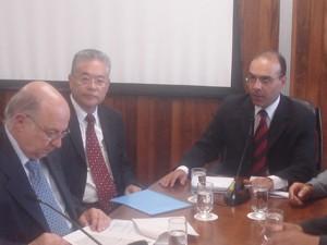 Paulo Vannuchi e Paulo Okamoto, dirigentes do Instituto Lula (Foto: Roney Domingos/G1)
