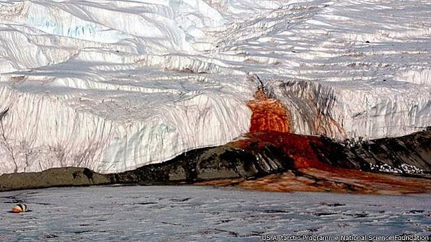 Cientistas consideram vales secos e gelados da Antártica parecidos com Marte (Foto: US Antartic Programme/National Science Foundation)