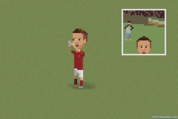 Comemoração selfie Totti Roma 8-bit