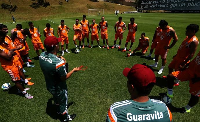 Técnico Eduardo Baptista no treino do Fluminense na Cidade do Galo (Foto: Nelson Perez/Fluminense FC)