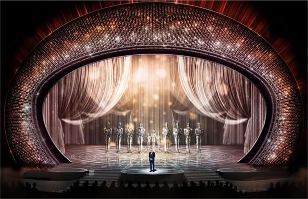 Oscar 2017: mais de 300 mil cristais formam o palco da premiação (Foto: Divulgação)
