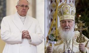 Papa e patriarca da Igreja Ortodoxa fazem reunião histórica nesta sexta