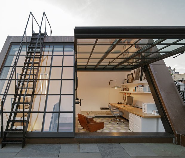 NYC townhouse with new penthouse by BWArchitects and re:design (Foto: BWA/Divulgação)