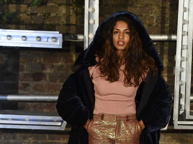M.I.A. em evento de moda em Londres, na Inglaterra (Foto: Ben Stansall/ AFP)
