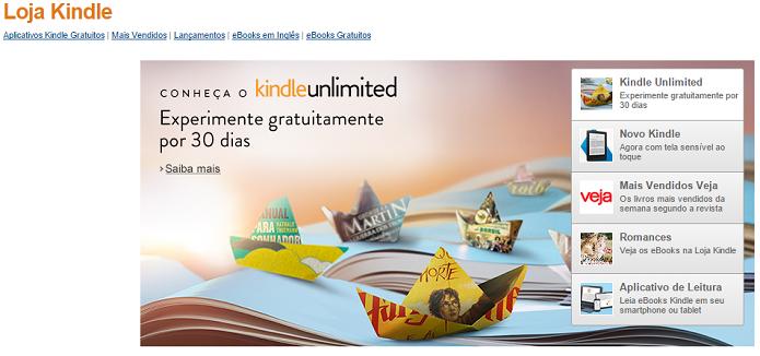 Kindle é uma ótima ferramenta para comprar livros (Foto: Reprodução)