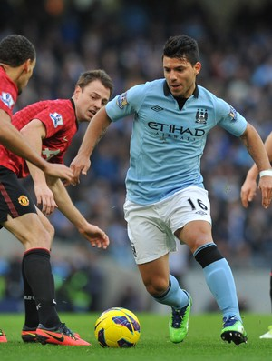 Aguero Manchester United x Manchester City (Foto: Getty Images)