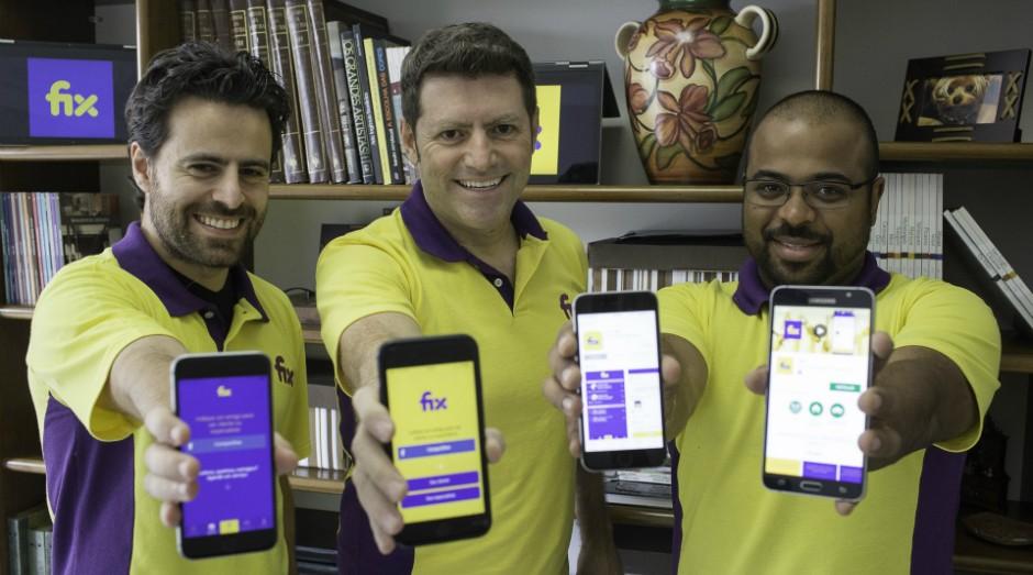 Da esquerda para a direita, Vinicius de Oliveira, Eduardo Quadrado e Vinicius Costa (Foto: Divulgação)