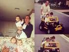 Lívian Aragão relembra momentos da infância em fotos com o pai