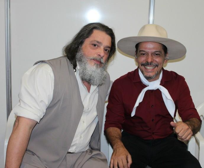 Galpão Crioulo Ibiaçá Neto Fagundes e Luiz Marenco (Foto: Nice Sordi/RBS TV)
