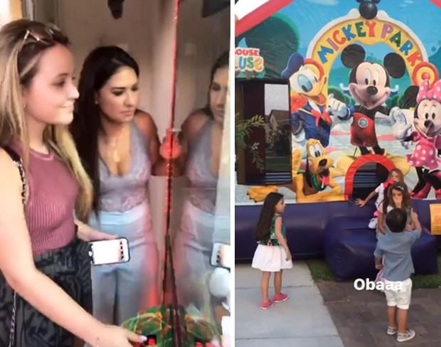 Larissa Manoela e Simone brincam em festa (Foto: Reprodução/Instagram)