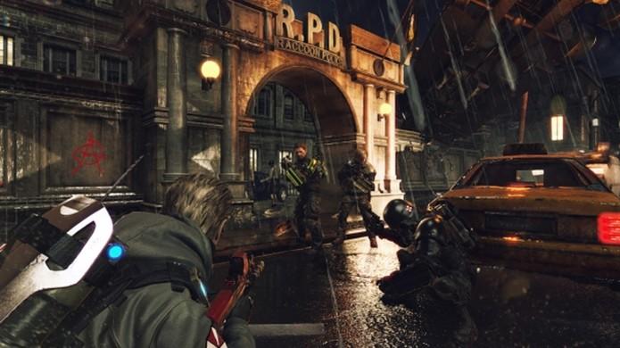 Umbrella Corps traz clássica delegacia de Raccoon City do Resident Evil 2 como mapa (Foto: Reprodução/Gematsu) (Foto: Umbrella Corps traz clássica delegacia de Raccoon City do Resident Evil 2 como mapa (Foto: Reprodução/Gematsu))