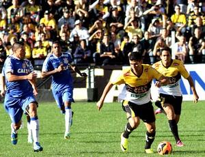 lance do jogo entre Corinthians e Criciúma SÉrie A (Foto: Fernando Ribeiro / Agência Estado)