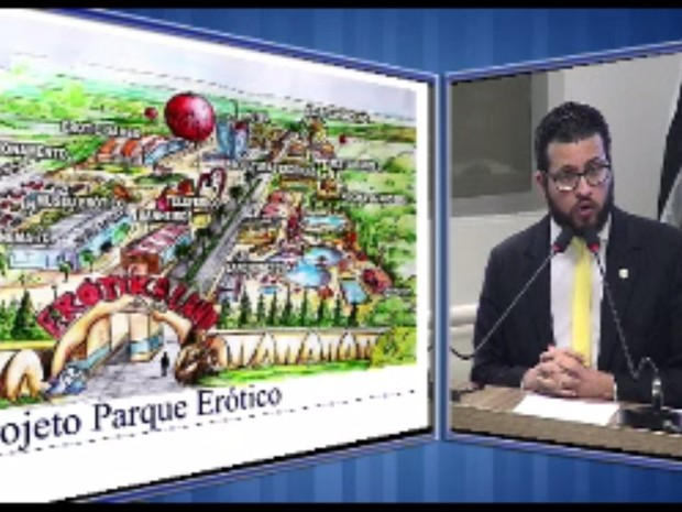 Vereador de Piracicaba Matheus Erler (PSC) critica projeto de parque erótico 'Erotikaland' (Foto: Reprodução/TV Câmara)