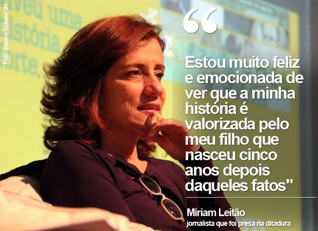 Míriam Leitão (Foto: Jéssica Balbino/G1)