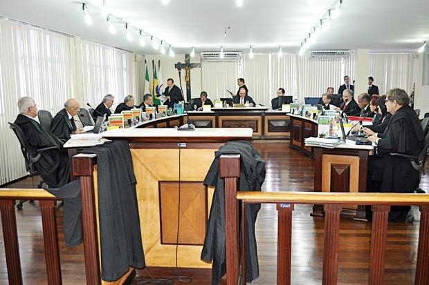 Anúncio dos investimentos foi feito durante a sessão administrativa do Pleno do TJRN (Foto: Divulgação/TJRN)