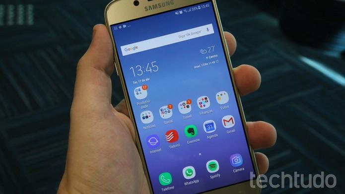 Galaxy J5 Pro [marca] (Foto: Bruno De Blasi/TechTudo)